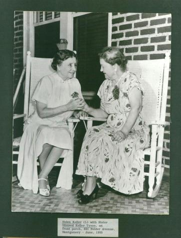 Helen and Sister on Front Porch c. 1955